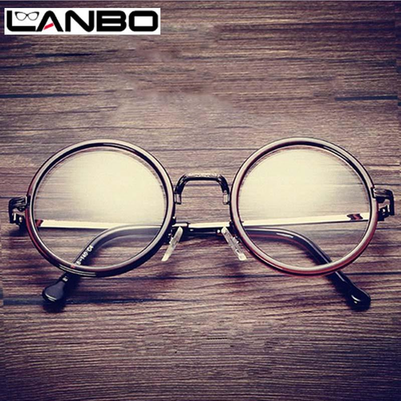 d251fbc9e123 2019 Wholesale LANBO Hot Women Men Big Round Glasses Frames Newest Purely  Handmade Vintage Optical Eye Frame Plain Glass Fashion Oculos811 From  Gocan