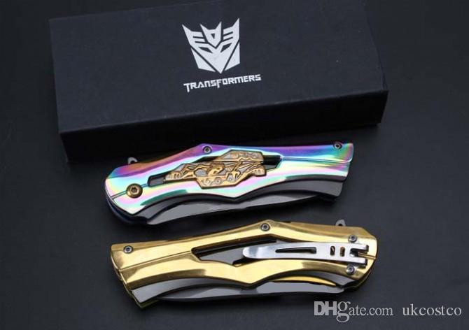 Geschenk Messer 2 Farbe Cool Design Klappmesser 58HRC 5Cr Klinge Fast-Open EDC Tasche Überleben Tactical Outdoor Gear F740L