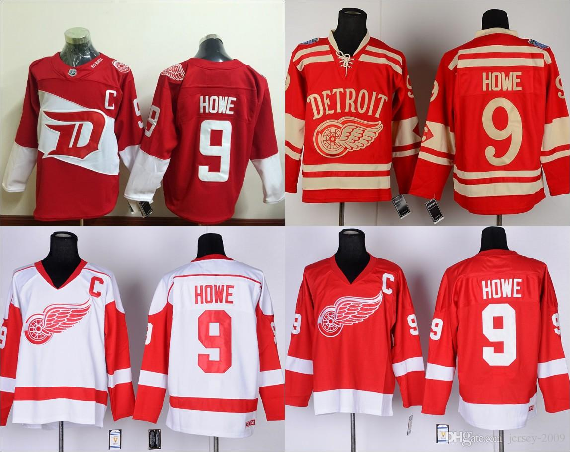 2019 2016 Men Stadium Series 9 Gordie Howe Detroit Red Wings Nhl Ice Hockey  2016 Stitched Jerseys From Jersey 2009 551016a09