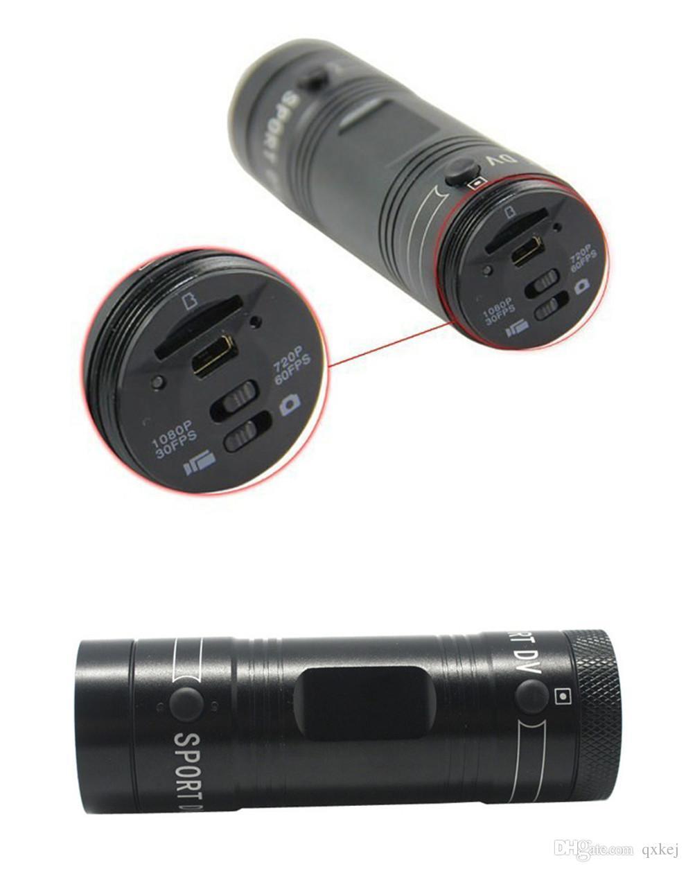 Mini F9 Sport DV Full HD 1080P wasserdichte Sportkamera Digital Action Kamera Extremsport Camcorder Aluminiumgehäuse