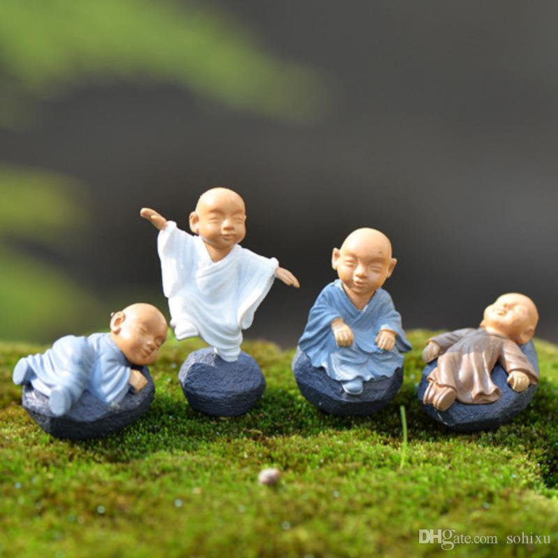 4pcs Mosque Monks Home Decoration Accessories Fairy Garden Miniatures Resin Craft Religion Terrarium Figurines Tonsai Tools Gnomes Zakka Toy