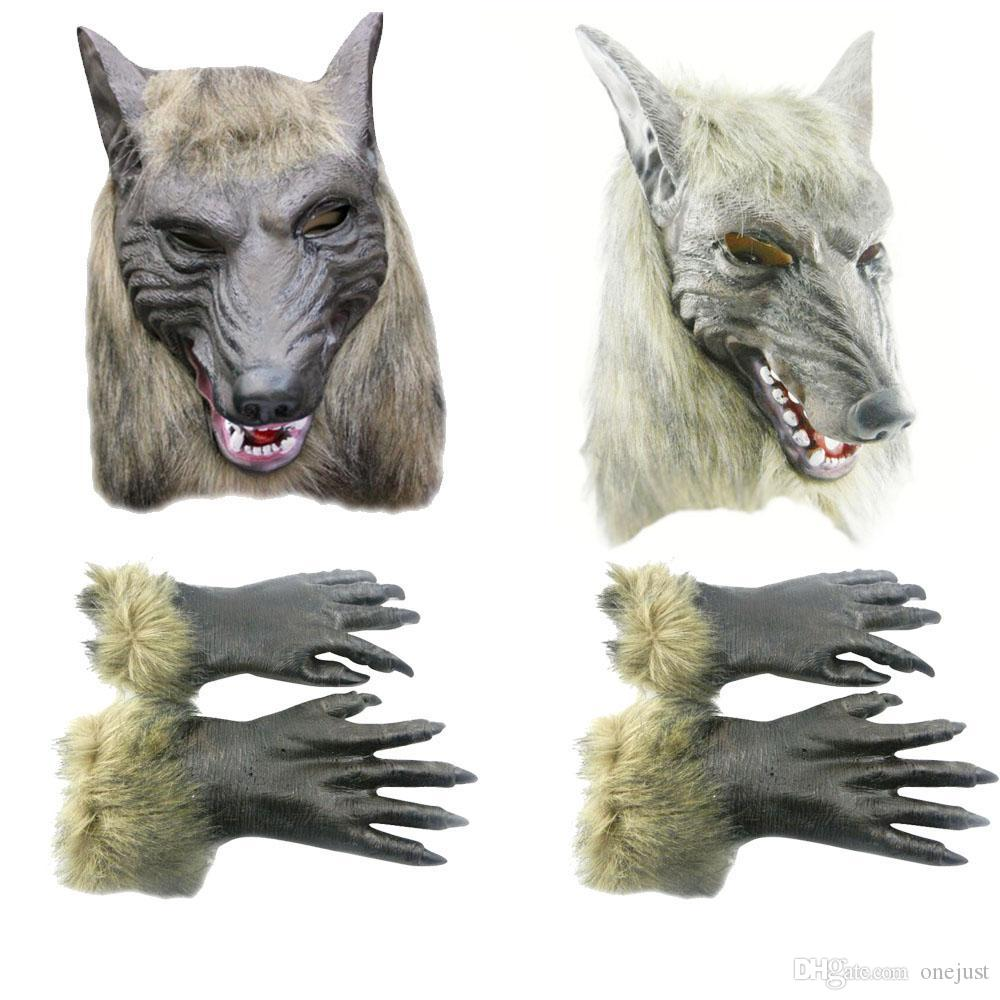 halloween cosplay realistic werewolf adult wolf masks latex costume prop c00121 ost - Halloween Werewolf
