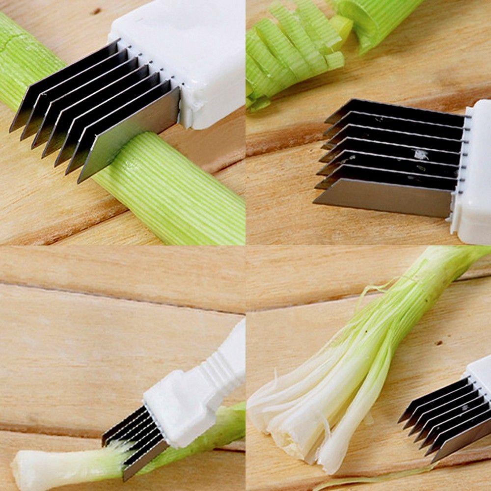 Stainless Steel Green Onions Cutter Green Spring Onion Slicer Device Vegetable Shredder Slicer Cutter Easy Handle