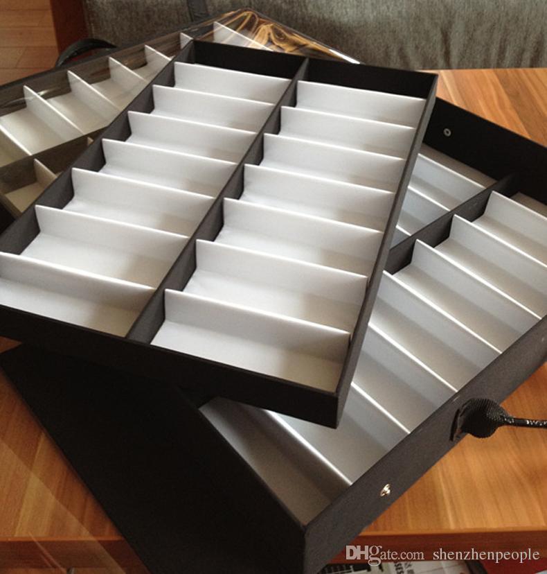 البيع بالتجزئة 32 النظارات النظارات الشمسية عرض القضية مربع حقيبة عقد