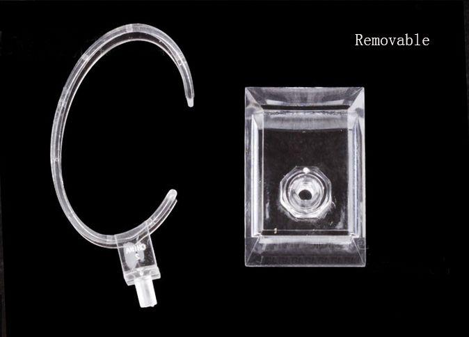 Оптовая 2016 лучшие продажи C кольца стиль Прозрачный Пластиковый Наручные Часы Держатель Дисплея Стойки Магазин Магазин Стенд 100 шт.