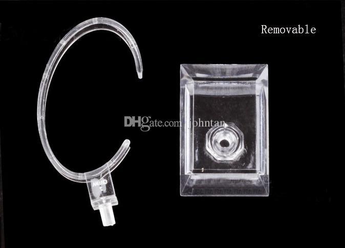 / C anelli stile trasparente orologio da polso in plastica Display Holder Rack Store Negozio Show Stand