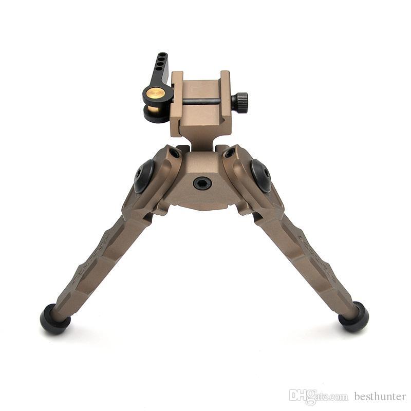 Bestsight Tactical BR-4 Bolzen Aktion Schnell Abnehmen Zweibein fit 20mm Picatinny Schiene für Zielfernrohr Schwarz Tan