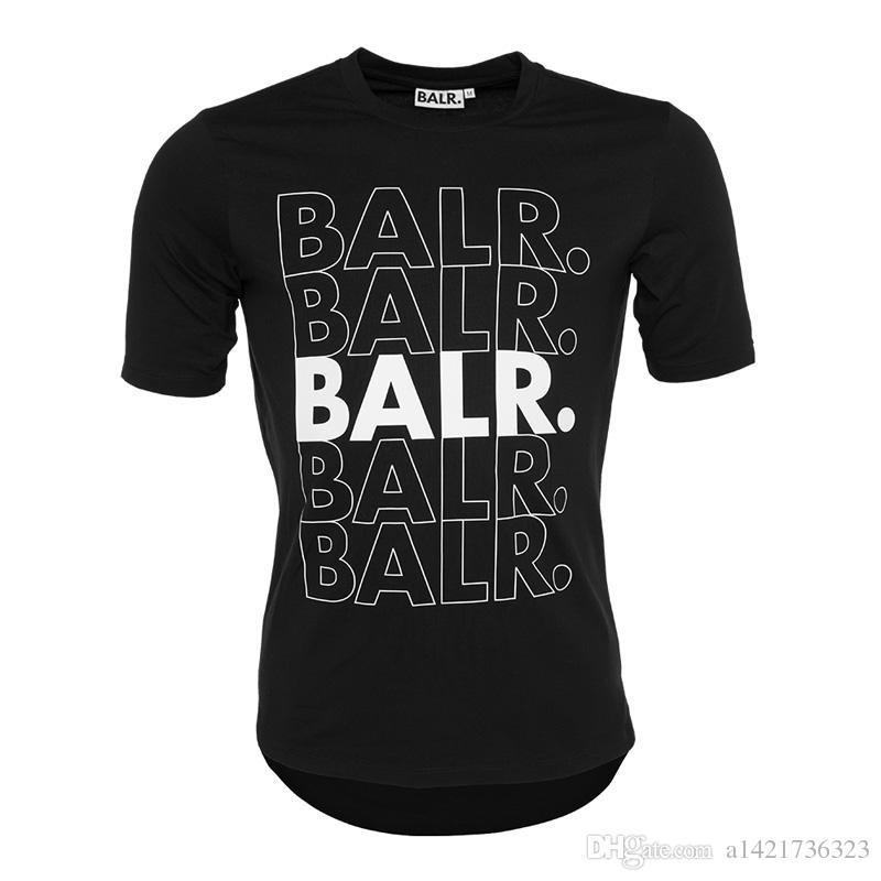 Homens balr T shirt Camiseta Tops de Algodão Carta Impressão de Fundo Redondo de Fitness Tshirt BALRED Tamanho Euro T-shirt Roupas de Marca