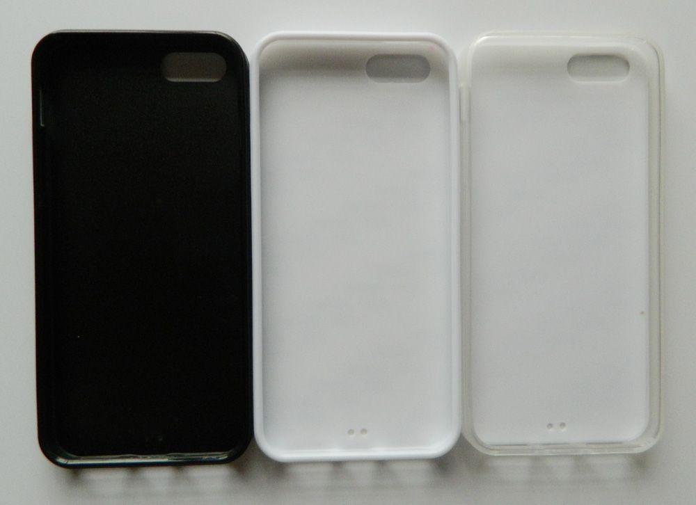 2D حالة TPU المطاط ل iPhone 5S SE حالة التسامي + لوحة معدنية فارغة /