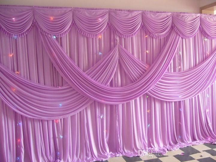 Luxury 3x6m pink color fabric wedding backdrop curtains with wedding luxury 3x6m pink color fabric wedding backdrop curtains with wedding swag wedding drape wedding stage decorations wedding props supplies country wedding junglespirit Gallery