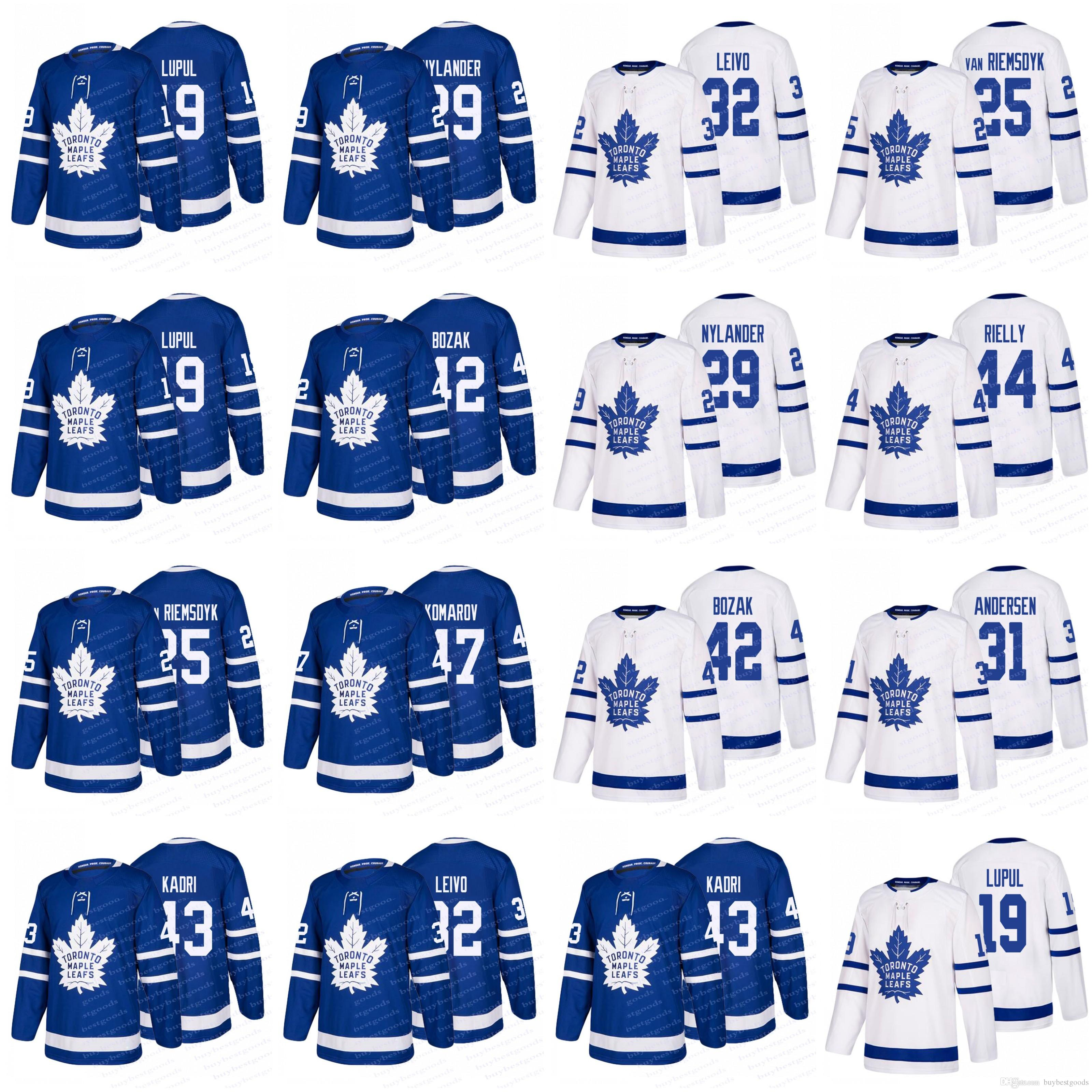 best loved 0b75e d65d3 2018 Toronto Maple Leafs Hockey Jerseys 42 Tyler Bozak 29 Tyler Bozak 44  Morgan Rielly 32 Josh Leivo 25 James Van Riemsdyk 19 Lupul