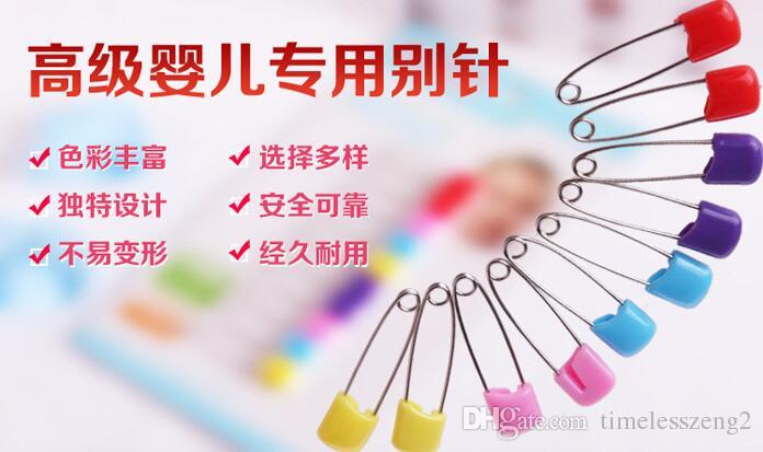 Renk emniyet pimi Çok amaçlı bebek pimleri bebek güvenliği pinBaby Elbise Bez Nappy Bezi Duş Zanaat Pimleri Oyunu Kiti Renk