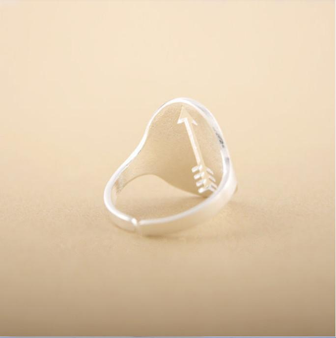 Women's fashion jewelry luxury empty arrow engagement ring finger joint party wedding ring metal accessories section of best gift