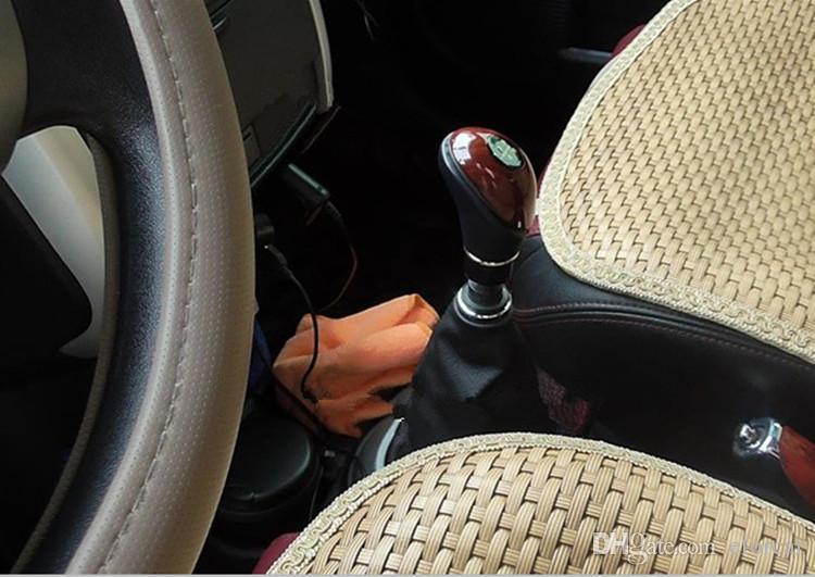 Universal Car SUV Manual 5 Speed Gear Stick Shift Manopola Maniglia Shifter Lever Mogano