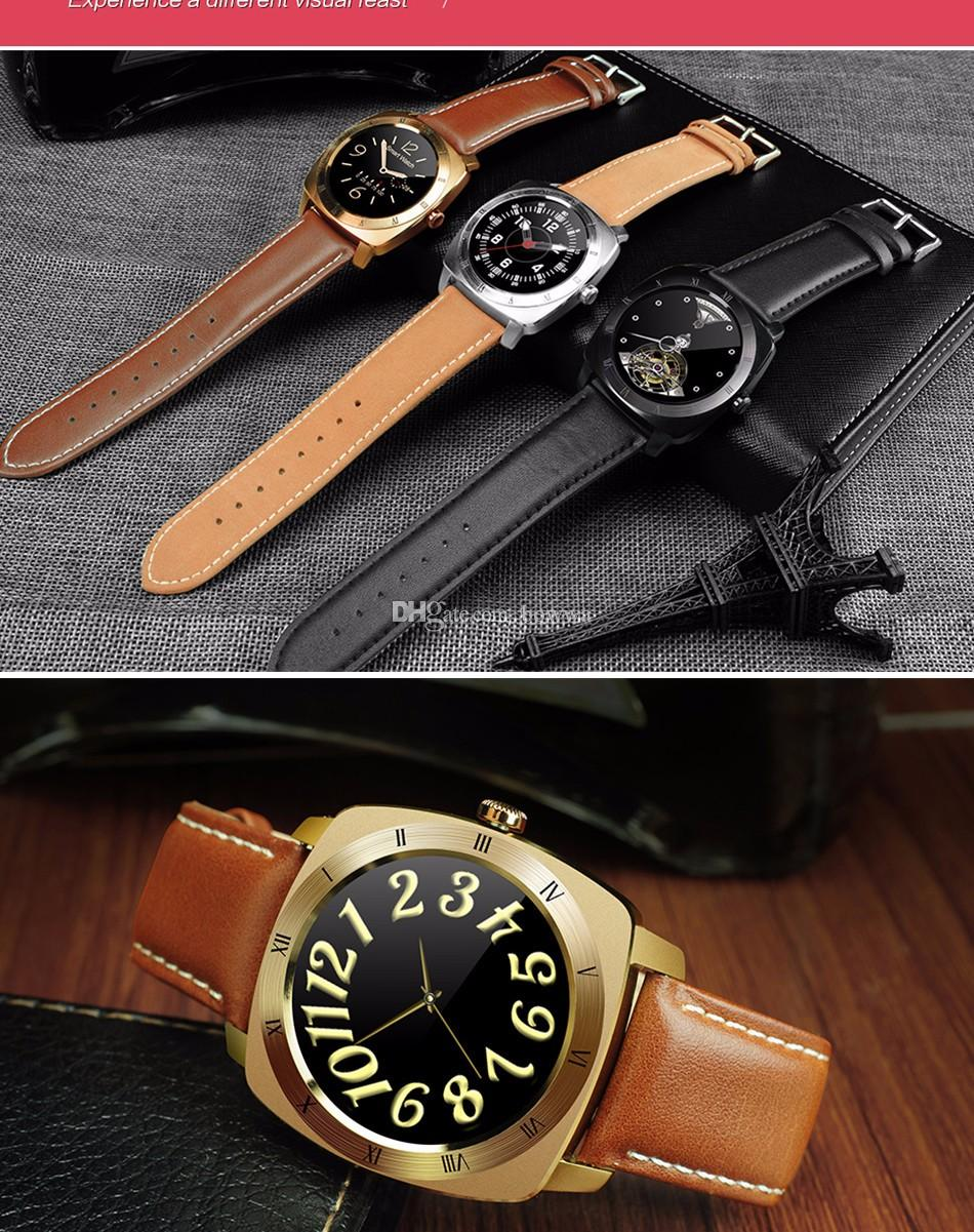 DM88 Smart Watch 2016 New Arrival Wearable Technology Smart Watches Multifunction Watch For Luxurious Business With Leather Band