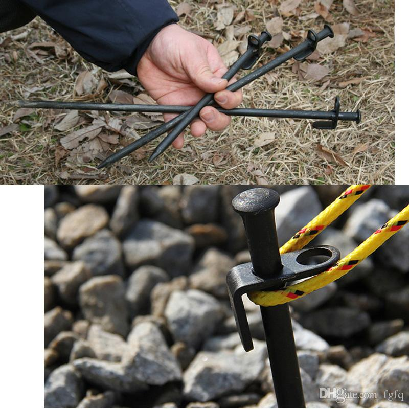20cm 7.87inch Steel Iron C&ing Tent Nail Stakes Pegs Canopy Stake Tent Stake Peg For Outdoor C&ing Canopies Garden Equipment Military Compasses ... : iron tent stakes - memphite.com