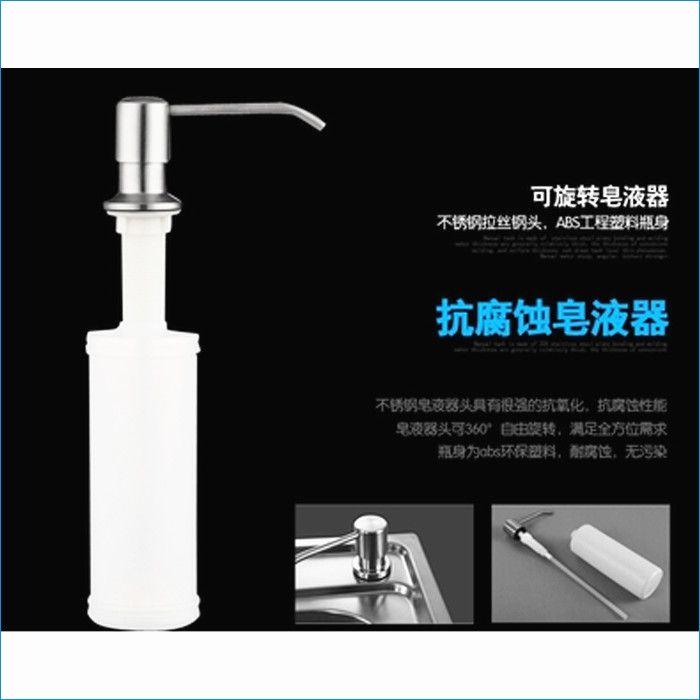 pompa del dispenser del sapone del dispersore della cucina, bottiglia dell'erogatore del sapone della mano dell'acciaio inossidabile e dell'ABS, trasporto libero J15326
