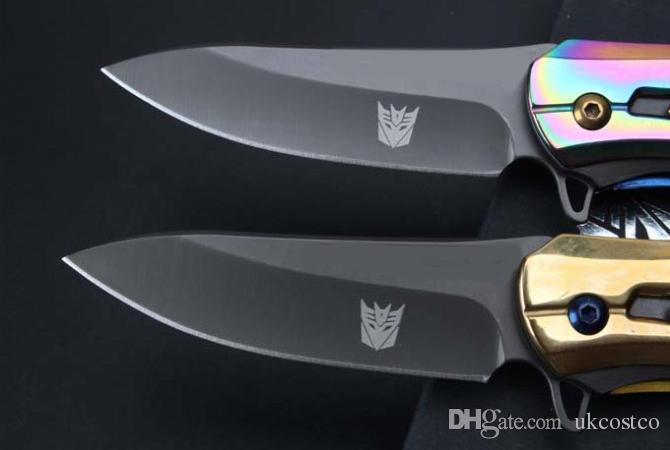 Couteau Cadeau 2 Couleurs Cool Design Couteau Pliant 58HRC 5Cr Lame Ouvert Rapide EDC Pocket Survival Tactical Outdoor Gear F740L