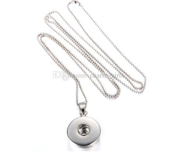 Ventas calientes NOOSA Prensa Larga Noosa Chunks Collar Colgante Botón A Presión Noosa Collares pendientes para Las Mujeres DIY Noosa Joyería
