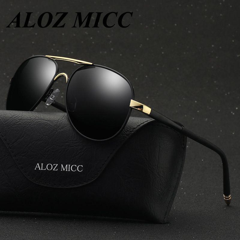 9fb8b4a32f ALOZ MICC Brand Polarized Sunglasses Men Fashion Classic Women Leisure Sun  Glasses Alloy Frame Polaroid Lens UV400 Goggles A308 Online Eyeglasses  Discount ...