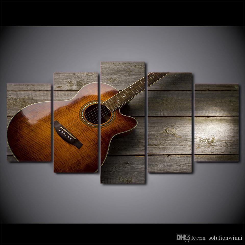 Satın Al 5 Adet Takım çerçeveli Baskılı Klasik Gitar Boyama