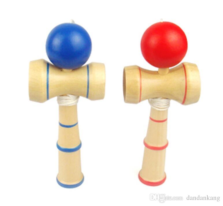 Kid Funny Kendama Skill Ball Japanese Traditional Sword Ball Wood Game Balls Educational Toy Gifts wholesale