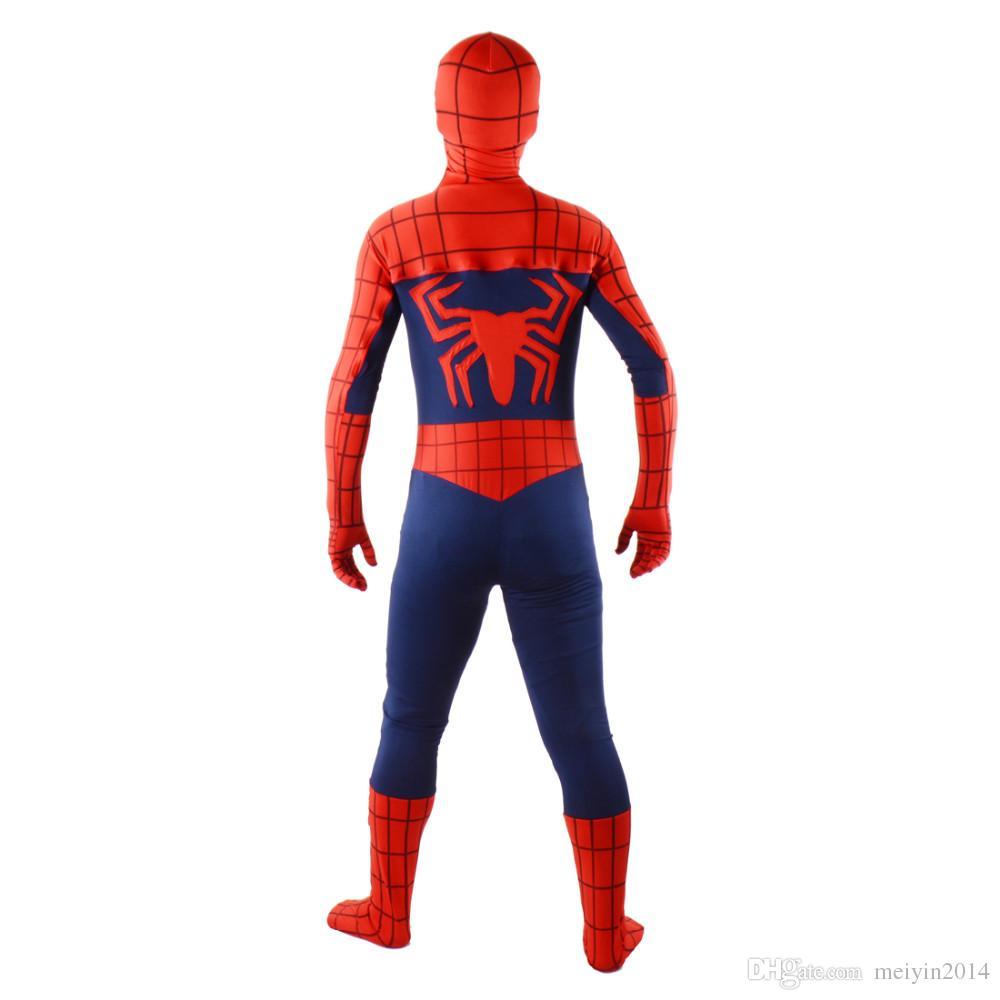 Captain America Civil War Spiderman costume adult red spandex full bodysuit zentai superhero cosplay party suit plus size custom halloween