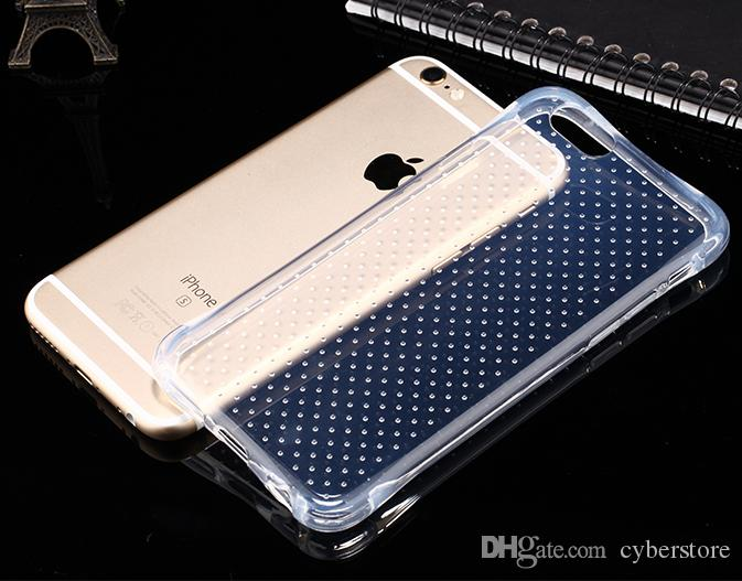 For iphone 6 6S 5S SE plus Shockproof Defender Transparent Clear Slim TPU Gel Soft Phone Back Case Cover For iphone6 5 6plus