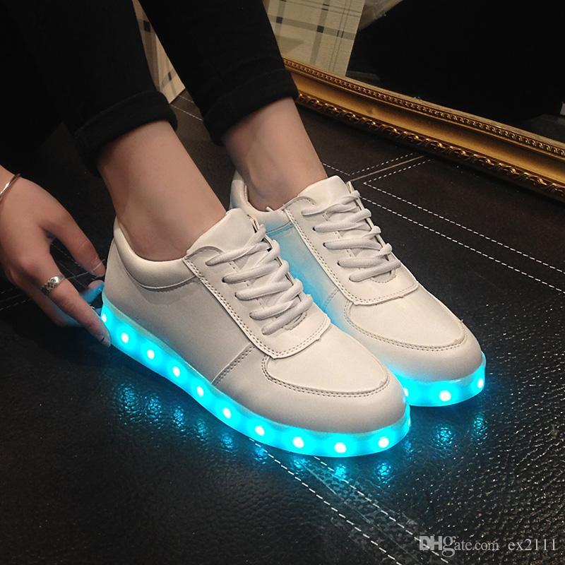 2016 Fashion High Quality Led Shoes For Adult USB Charging Men   Women  Casual Shoes Glowing Unisex Lovers Light Shoes DHL Shoe Boots Fashion Shoes  From ... 62157eba5