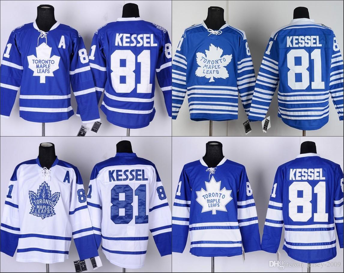 2dfc2201b45 2016 Men s Toronto Maple Leafs 81 Phil Kessel Hockey Jersey High ...