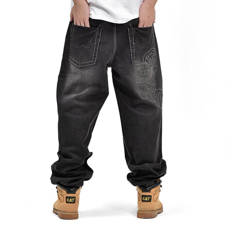 American Style Brand Mens Baggy Jeans Loose Plus Big Size Jeans Men Hip Hop Jeans Long Skate Board Jean Harem Pants