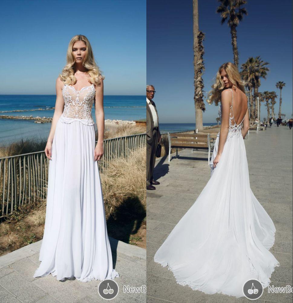 Discount Roman Belavan Backless Lace 2016 Beach Wedding Dresses ...