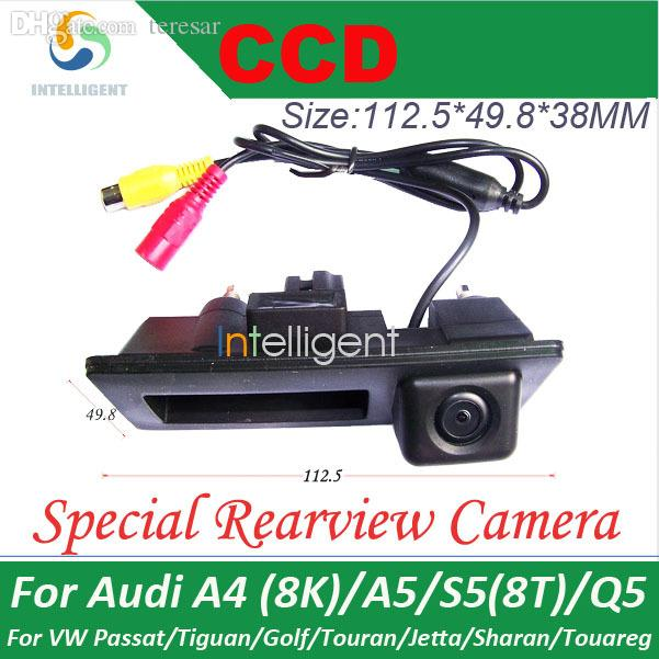 Wholesale-For A4 8K A5 S5 8T Q5  Cayenne Car parking camera Trunk handle camera Night vision color waterproof