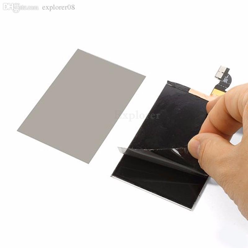 original polarizador polarizador filme polarizado difusor para iphone 5 5s 5c 6 6 s 7 8 plus 4.7 5.5 polegada de substituição