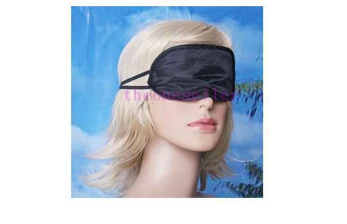Eye Mask Shade Nap Cover Blindfold Sleeping Sleep Travel Rest H1996 Black