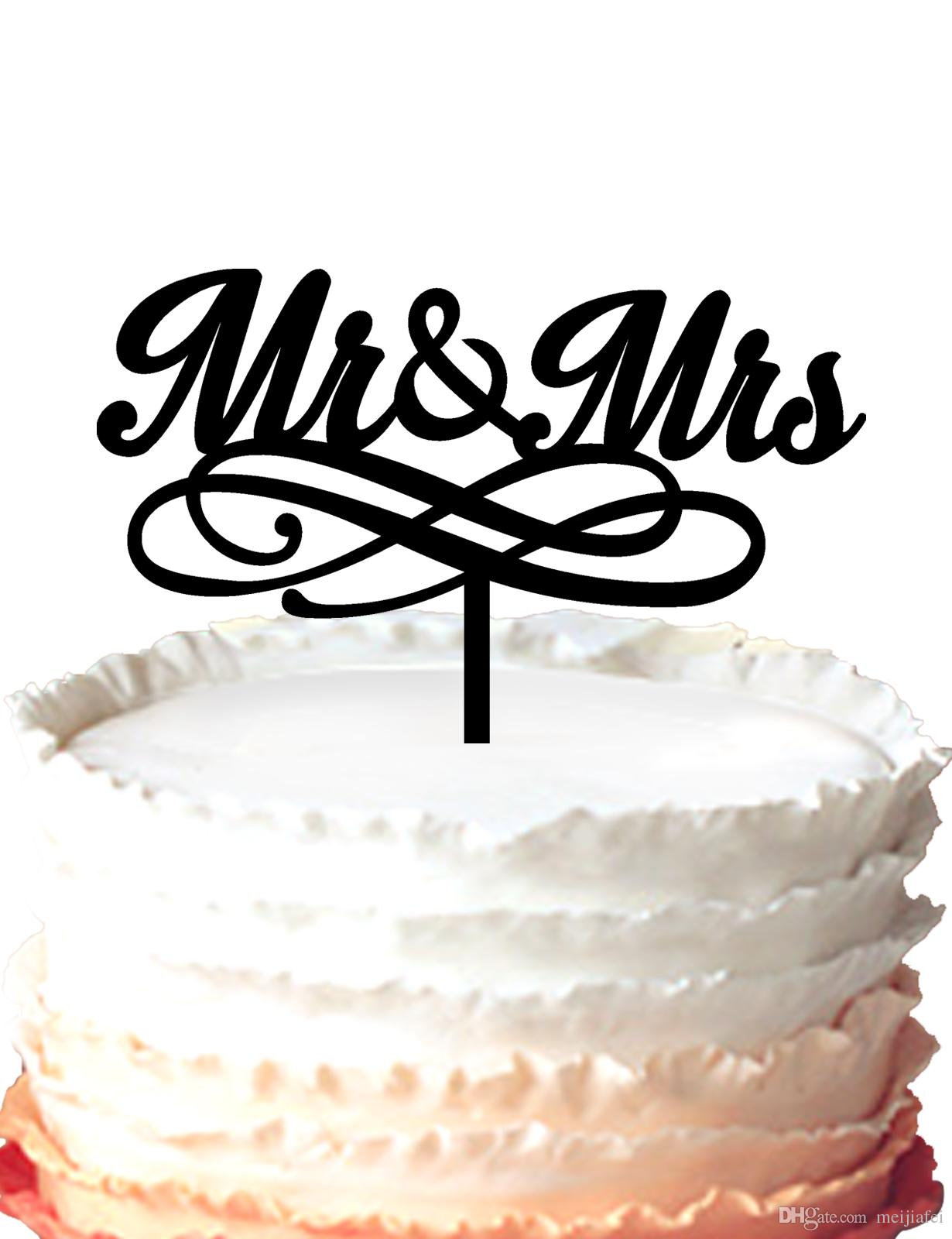 Anniversary Wedding Acrylic Cake Topper Silhouette Mr & Mrs,cake ...