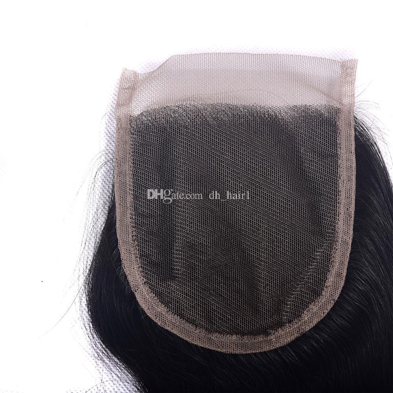 8A Ombre Brezilyalı Saç Örgü 3 Demetleri Ile Kapatma Brezilyalı Vücut Dalga Frontal Kapatma Ile Dalgalı Dantel Kapatma # 1B / 4/27