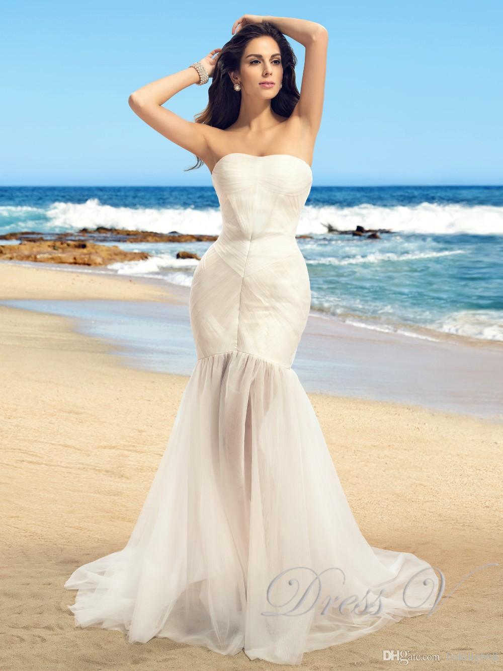 Discount Romantic Summer Beach Wedding Dresses 2017