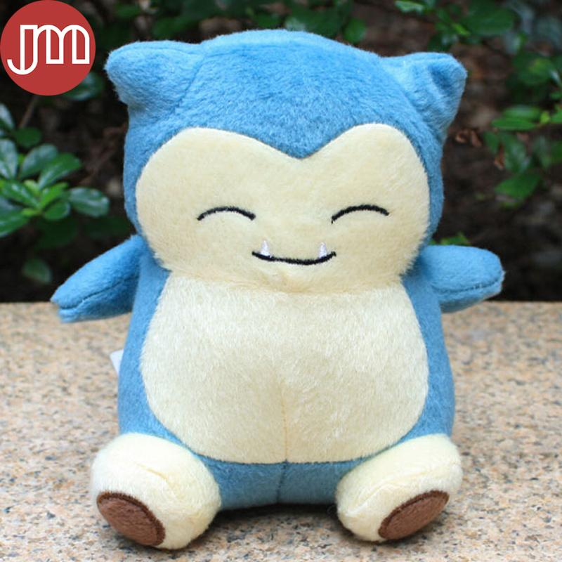 New Snorlax Blue Soft Plush Stuffed Animal Doll 14cm Anime Baby Dolls Kids Toys Gift