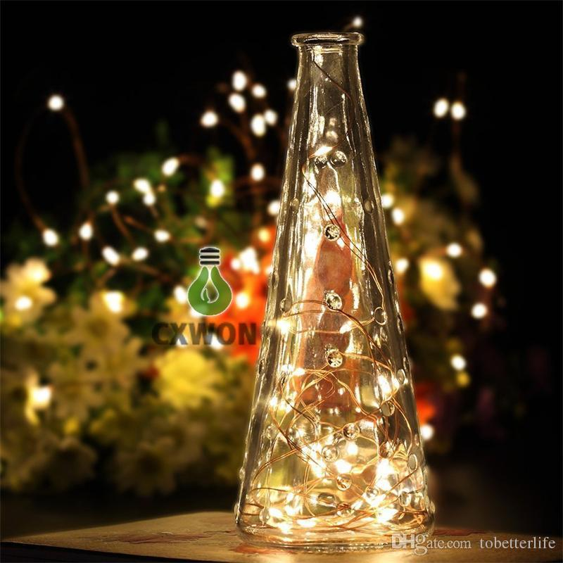 LED String Lights Battery Powered Remote Control Copper Wire Christmas Tree Timer Rope Lighting 16FT 5M 50 leds IP65 Indoor/Outdoor