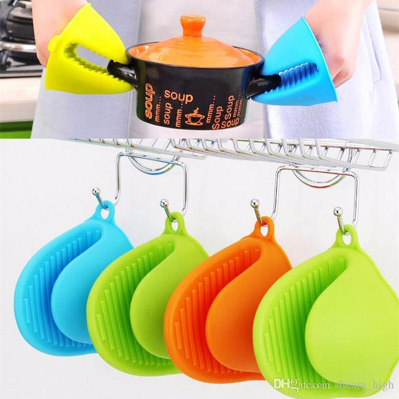 Silicone hand clip Pliable Proximity Heat Insulation Heatproof Silicone Cooking Gloves Oven Mitts Protect Yourselves free shipping