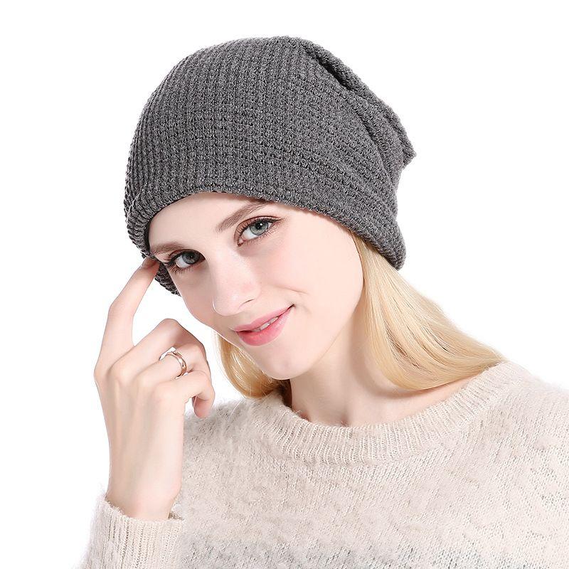 b9583cbe2a8 New Arrival Fashion Handmade Knitting Hats Female Winter Warm Crochet Caps  Skullies For Lady Women Casual Beanies Beanie Kids Skull Caps From  Tracy0207