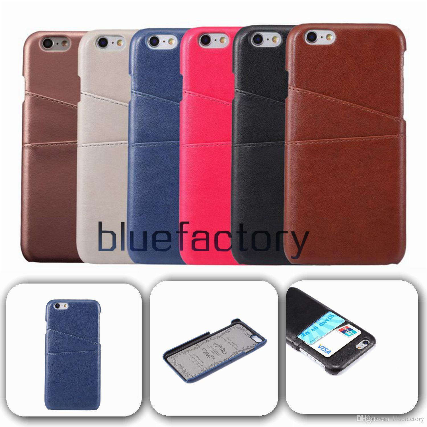 d4ed95500537c2 New Luxury Leather Case For Iphone 6 With Stand Credit Card Pocket Cash  Slot Photo Frame Stocks For Iphone 6s Plus Reiko Cell Phone Case Western  Cell Phone ...