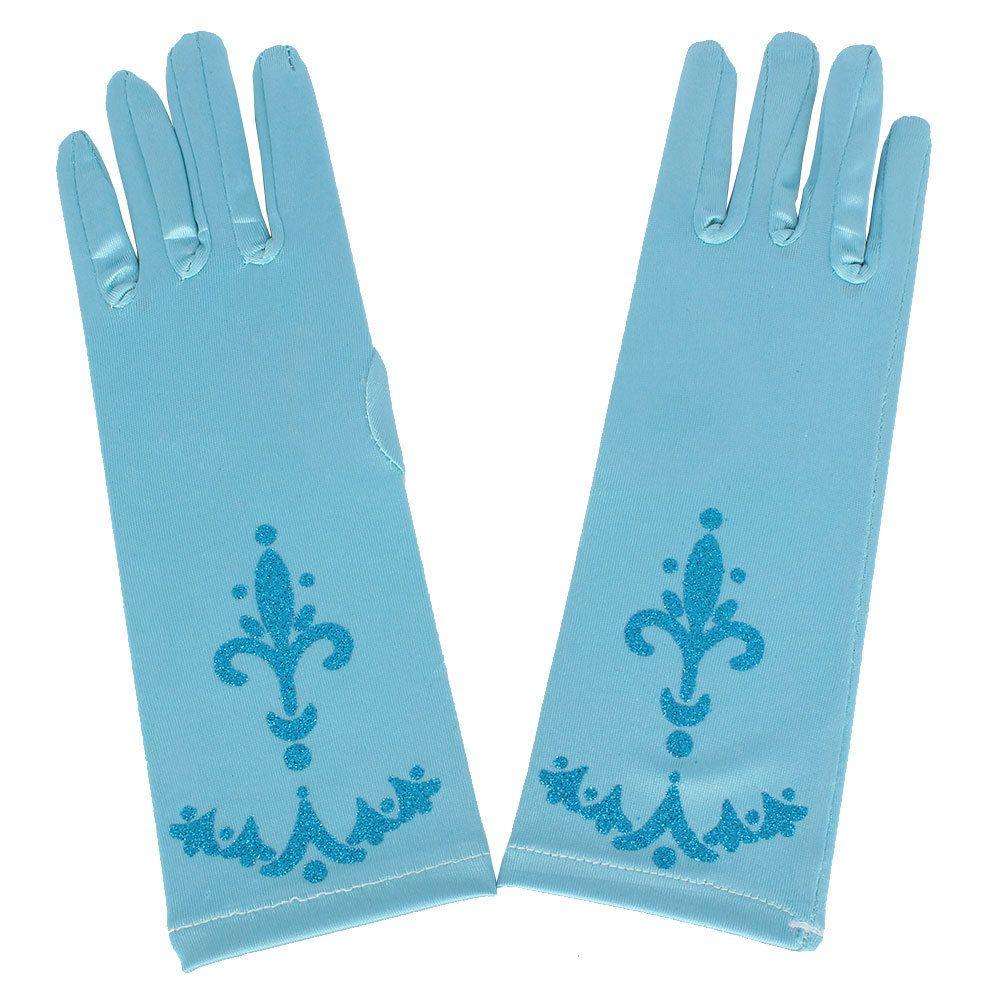 Children Snow White Finger Gloves Princess Coronation Blue Girls Fancy Dress Gloves New Cosplay Costume Christmas Gifts HH-G15