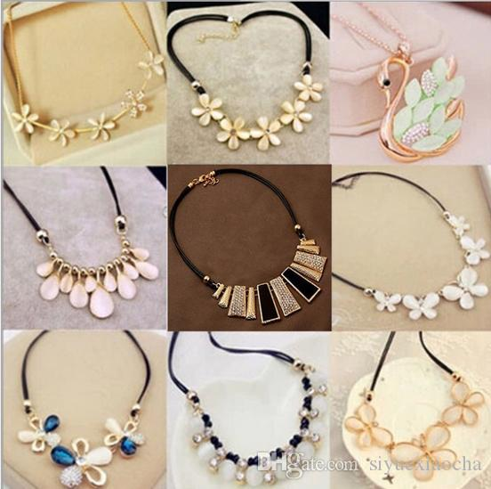 Stile popolare in Europa e negli Stati Uniti, 3 fiori, collana di diamanti; Molto fashion e seguendo la tendenza attuale, spedizione gratuita