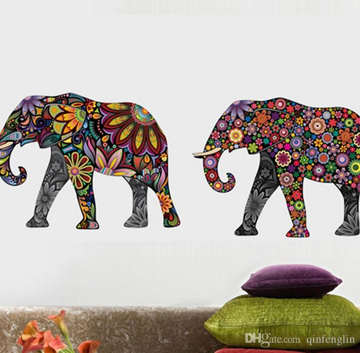 Walls Elegant Elephant Wall Sticker, Medium And Right Facing Large Wall  Decals Large Wall Decals Cheap From Qinfenglin, $2.52| Dhgate.Com