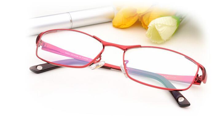 Womens Titanium Eyeglass Frames Red Purple Color Ladies Glasses Eye ...