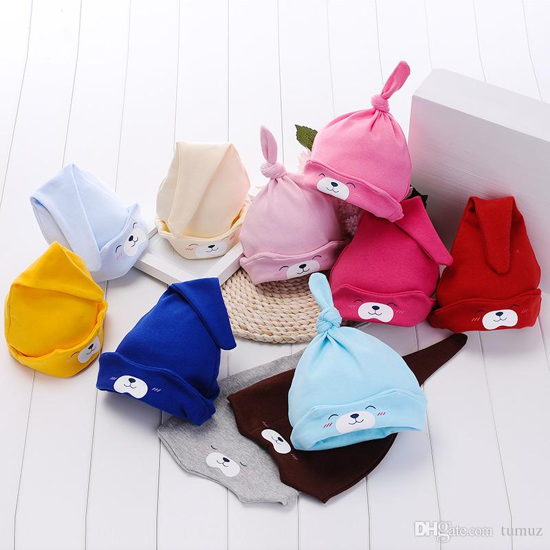 الخريف والشتاء قبعة الطفل ، وطفل رضيع الكرتون قبعة النوم ، وقبعة الأطفال حديثي الولادة
