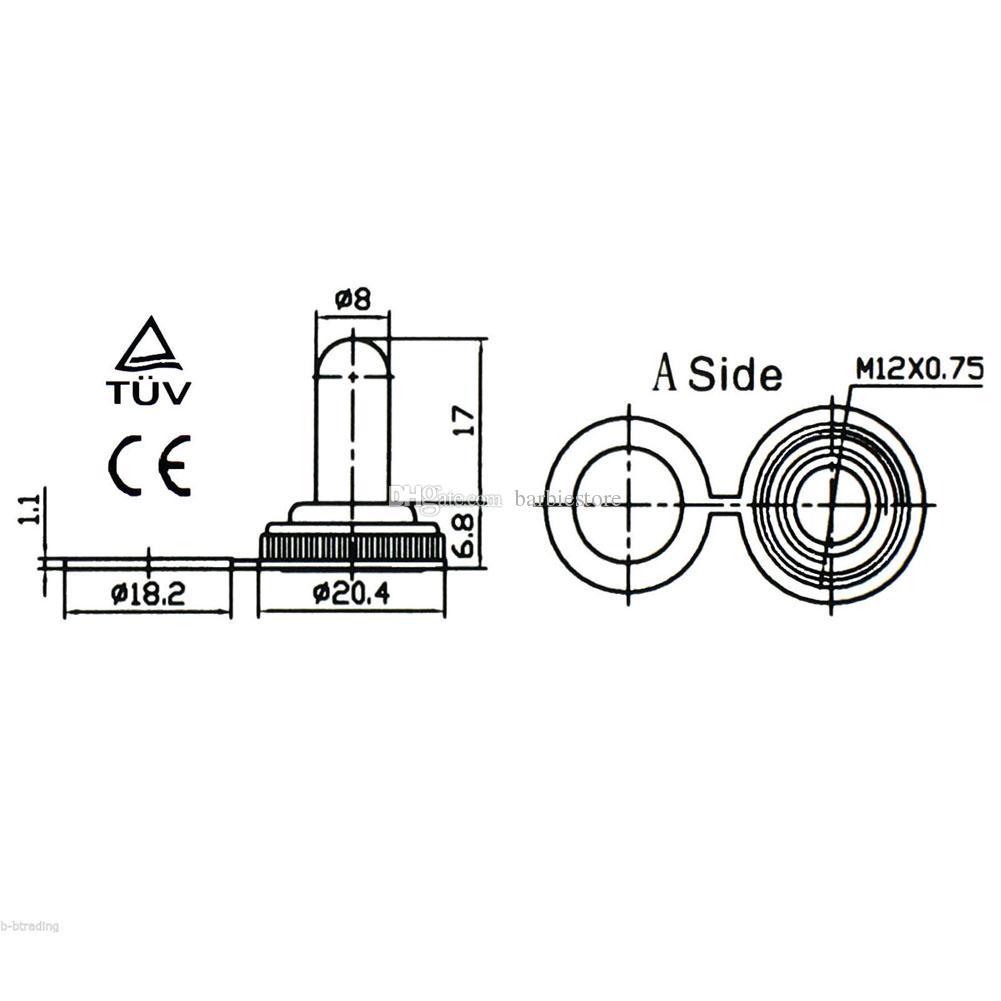 Interrupteur à bascule ON / OFF 20A 125V DPST 4 pour service intensif avec démarrage étanche B00050 BAR