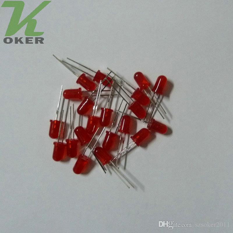 5mm rosso diffuso led lampada a led led diodi 5mm diffuse rosso ultra luminoso rotondo led light spedizione gratuita
